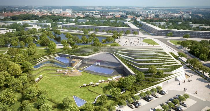 Centre aquatique du Raquet à DOUAI (59) – Communauté d'agglomération du Douaisis Architectes : AUER & WEBER / 6 426 m² / 20 M € Missions BÉHI : AMO HQE et AMO Technique Fluides